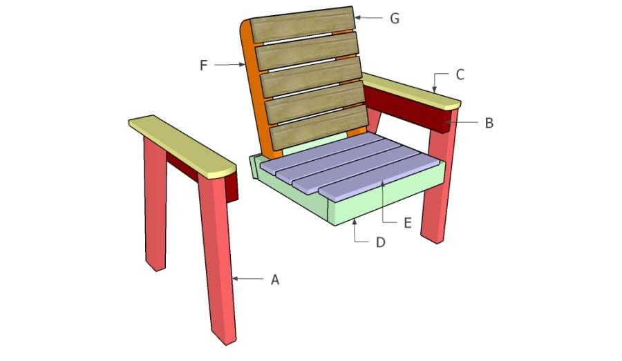 Садовые кресла своими руками чертежи и фото 7