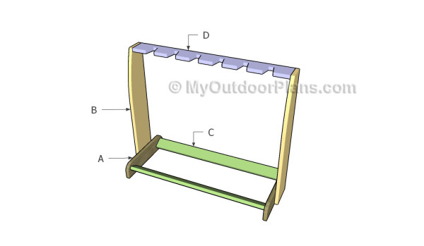 wooden guitar stand plans myoutdoorplans free woodworking plans and projects diy shed. Black Bedroom Furniture Sets. Home Design Ideas