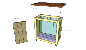 Building a rolling cart
