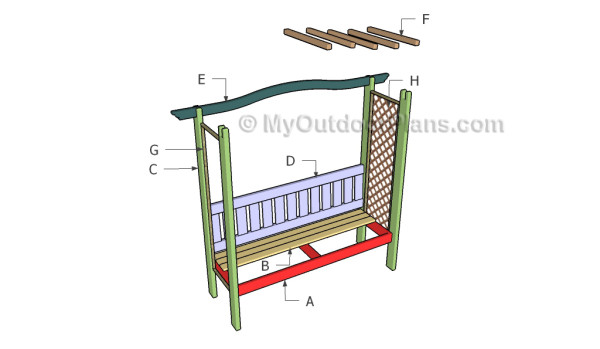 Building an arbor with bench
