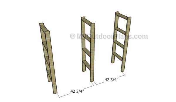 Building the frame for the shelves