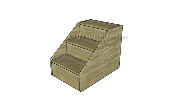 Dog Steps Plans | MyOutdoorPlans | Free Woodworking Plans ...