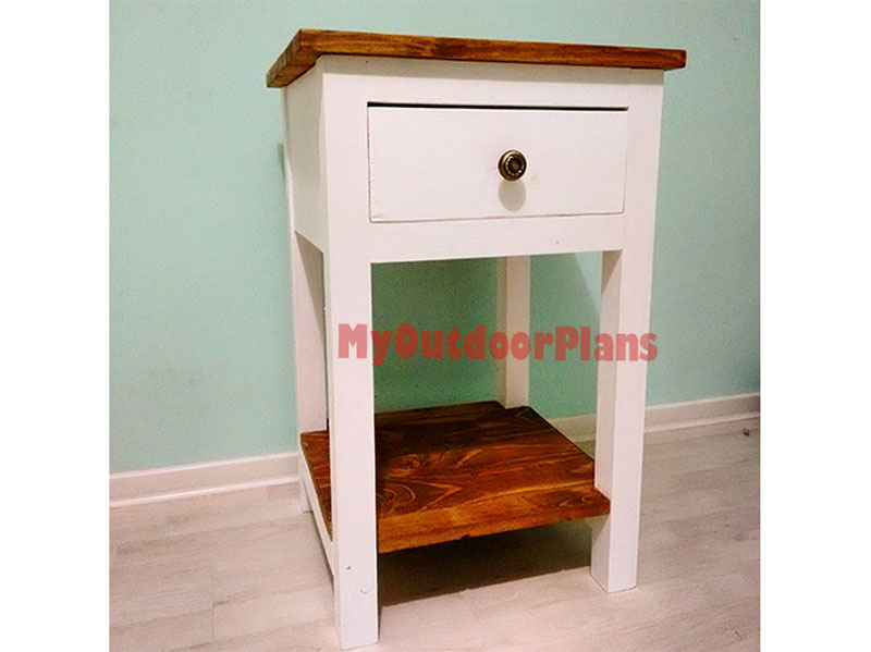 How to build a farmhouse nightstand