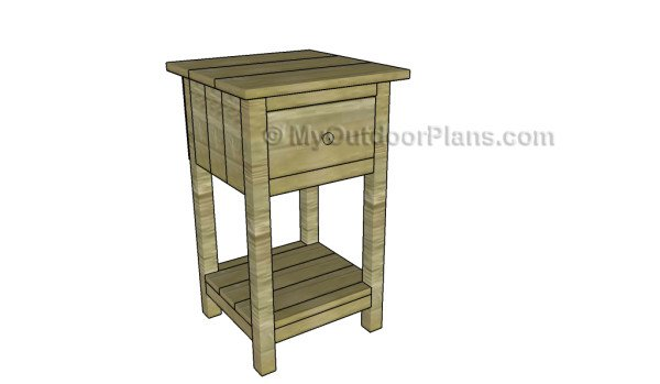Farmhouse nightstand plans myoutdoorplans free for Free nightstand woodworking plans