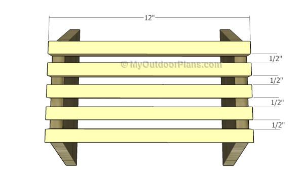 Fitting the bottom slats