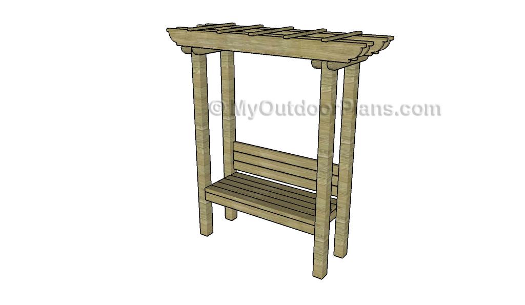 Sensational How To Build An Arbor Bench Myoutdoorplans Free Bralicious Painted Fabric Chair Ideas Braliciousco