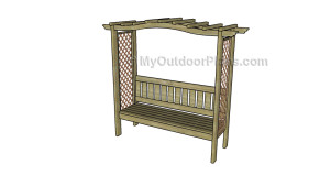 How to build an arbor with bench plans