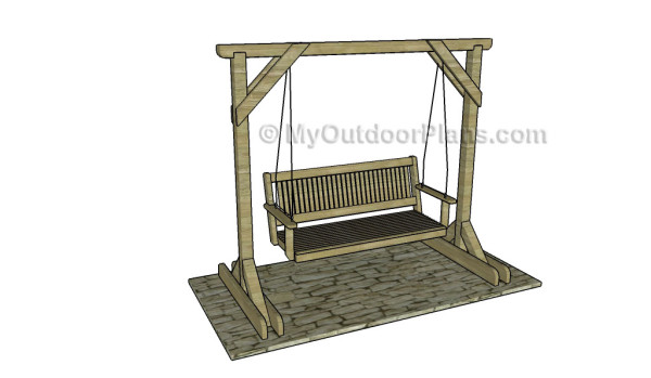 Porch Swing Stand Plans | MyOutdoorPlans | Free Woodworking Plans and ...