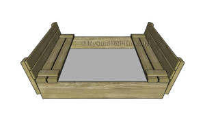Sandbox with benches plans