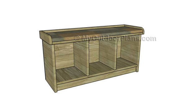 Small entryway bench plans