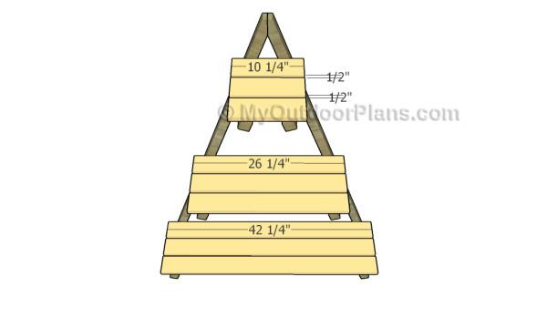 Ladder plant stand plans myoutdoorplans free for Plant shelf plans