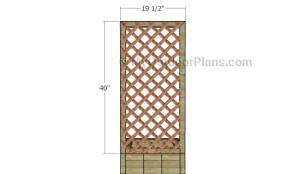 Attaching the trellis panel