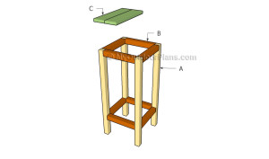 Building a bar stool