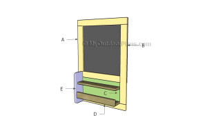 Building a chalkboard with shelves