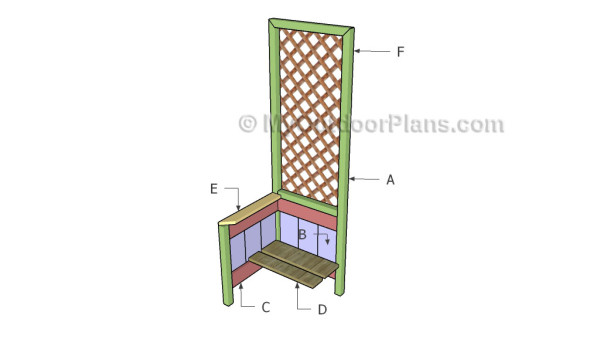 Building a garden planter with trellis