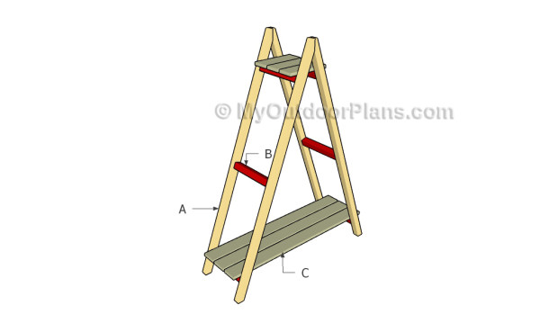 Building a ladder plant stand