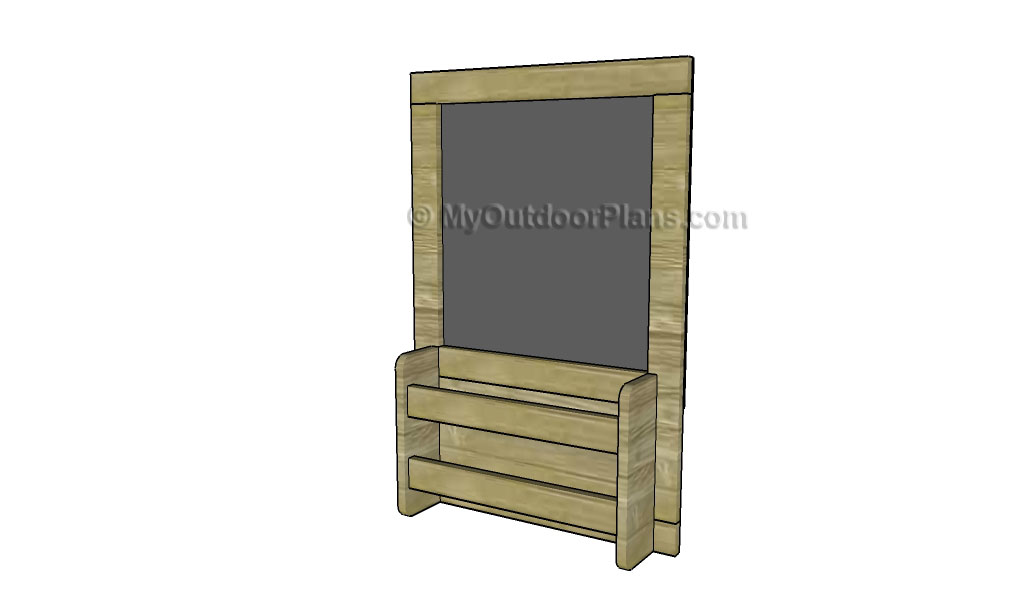 Chalkboard with Shelves Plans