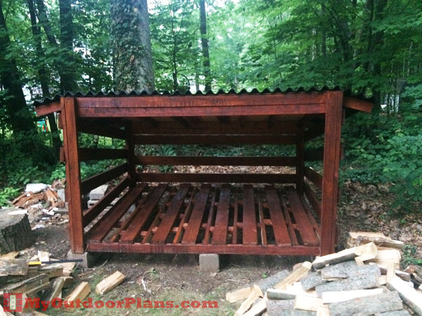 Large DIY Firewood Shed | Free Outdoor Plans - DIY Shed, Wooden ...