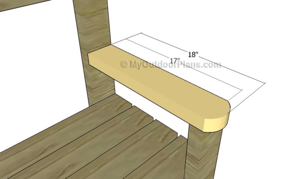 Fitting the armrests