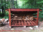 Large DIY Firewood Shed