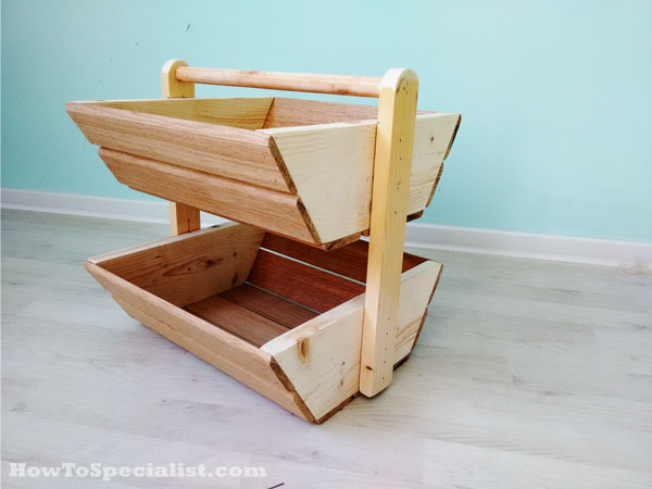 DIY Wood Storage Bins