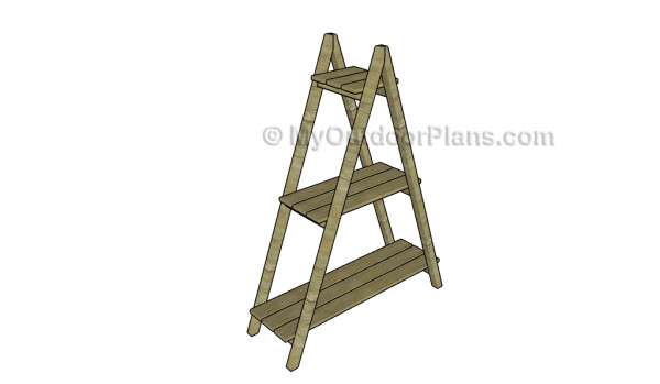 Ladder plant stand plans myoutdoorplans free woodworking plans and projects diy shed - Ladder plant stand plans free ...