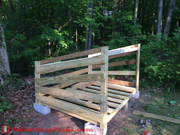 Large diy firewood shed myoutdoorplans free for Landscape timber projects free plans