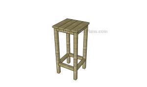 Simple bar stool plans
