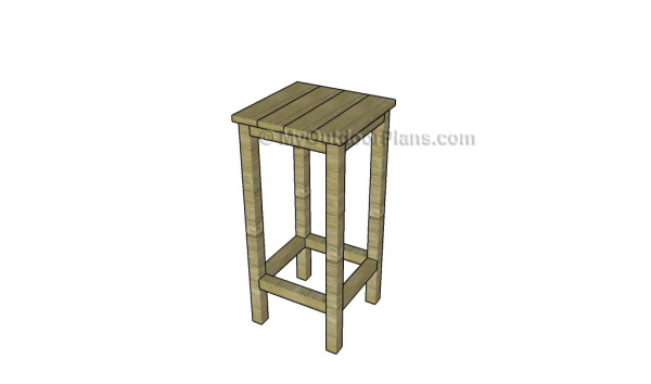 Simple bar stool plans