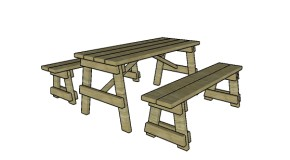 5 ft Picnic Table with Benches Plans