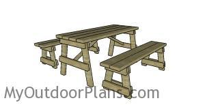 5 ft picnic table plans