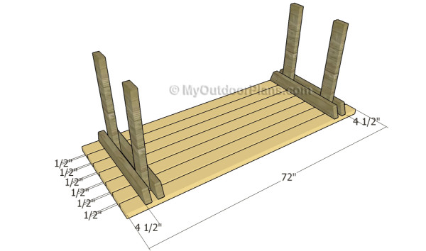 Attaching the table slats
