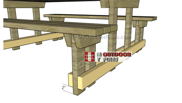 Base-supports-picnic-table