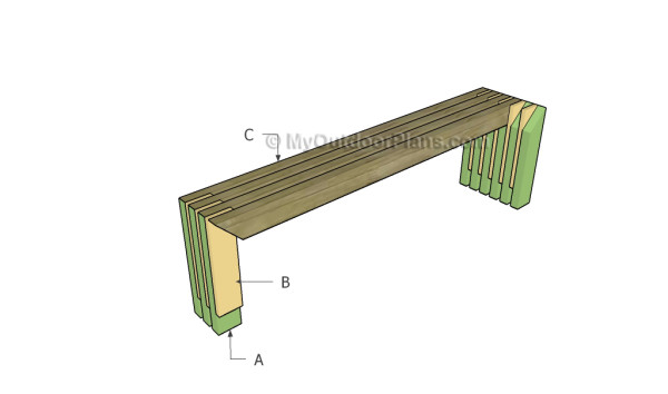 Building a modern outdoor bench