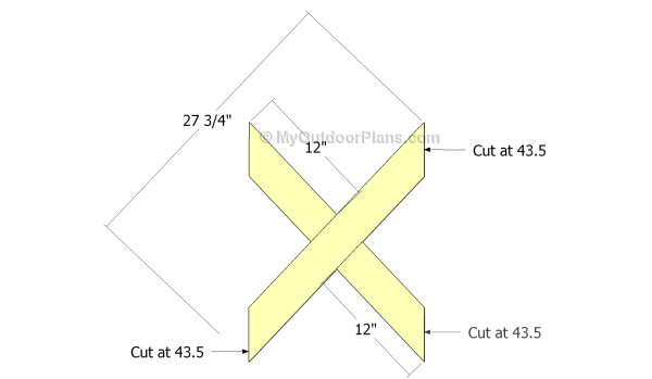Building the x-shaped elements