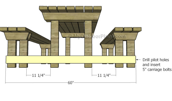 Picnic Table with Detached Benches Plans | MyOutdoorPlans | Free ...