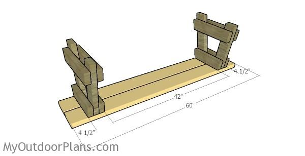 5 Ft Picnic Table With Benches Plans Myoutdoorplans