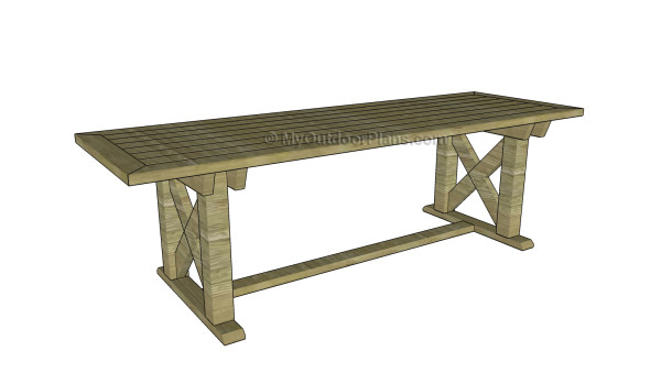 Free outdoor table plans
