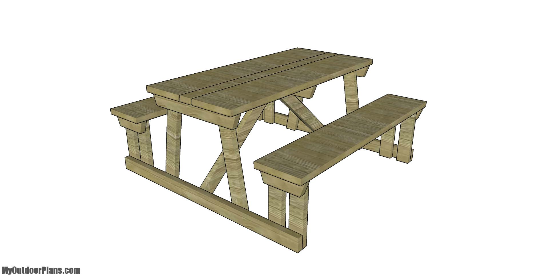 Outdoor Table with Benches Plans