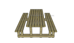 Picnic table with detached benches plans