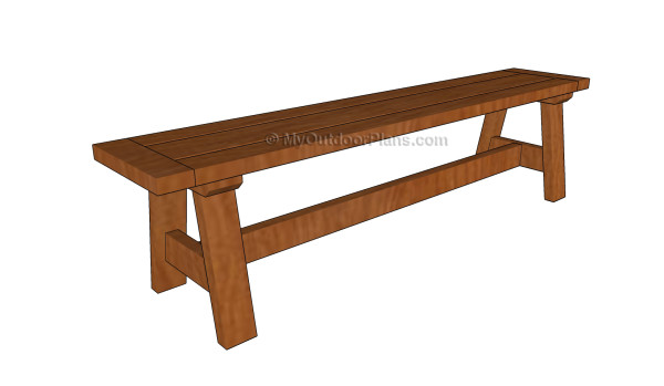 Outdoor bench plans free diy shed wooden