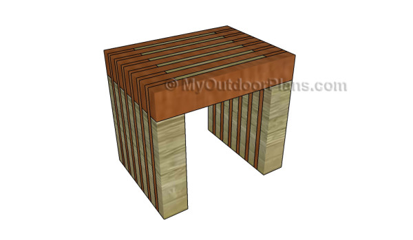 Wooden side table plans