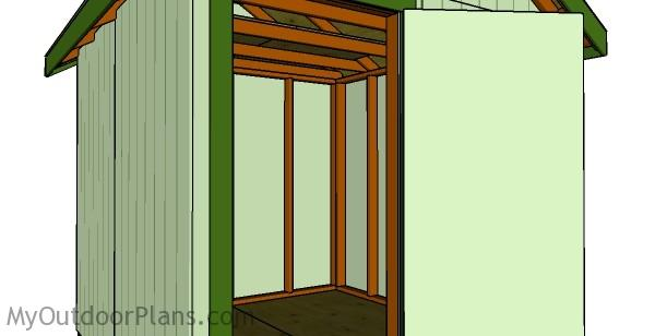 8x8 Shed Plans - Interior view