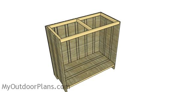Assembling the tiki bar