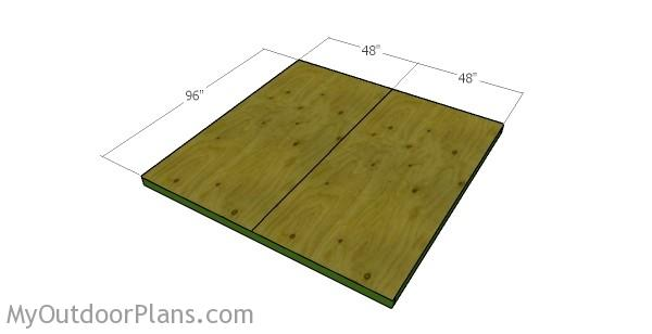 Attaching the flooring sheets