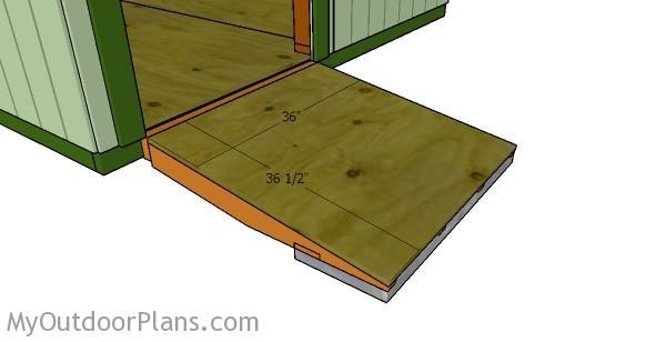 Attaching the ramp sheet