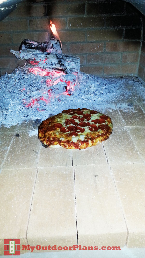 Baking-a-pizza-oven