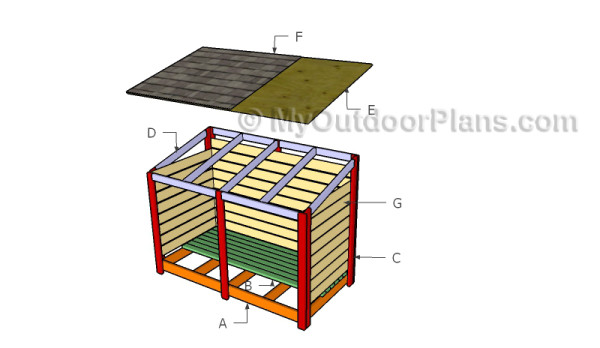 Building a large firewood shed