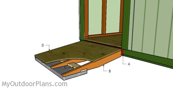 a shed to stiringers how tutorial build pm by shot step at ramp screen simple cut sheds