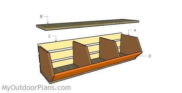 Building vegetable storage bins